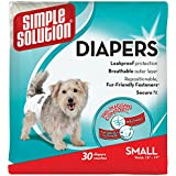 Simple Solution Disposable Dog Diapers for Female Dogs | Super Absorbent Leak-Proof Fit | Small | 30 Count