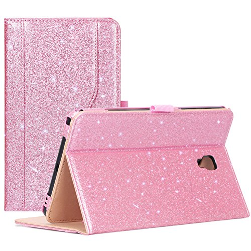 Galaxy Tab A 8.0 Case for 2017 Model T380 T385 - ProCase Stand Folio Case Cover for 8.0 inch Galaxy Tab A Tablet 2017 T380 T385 -Glitterpink
