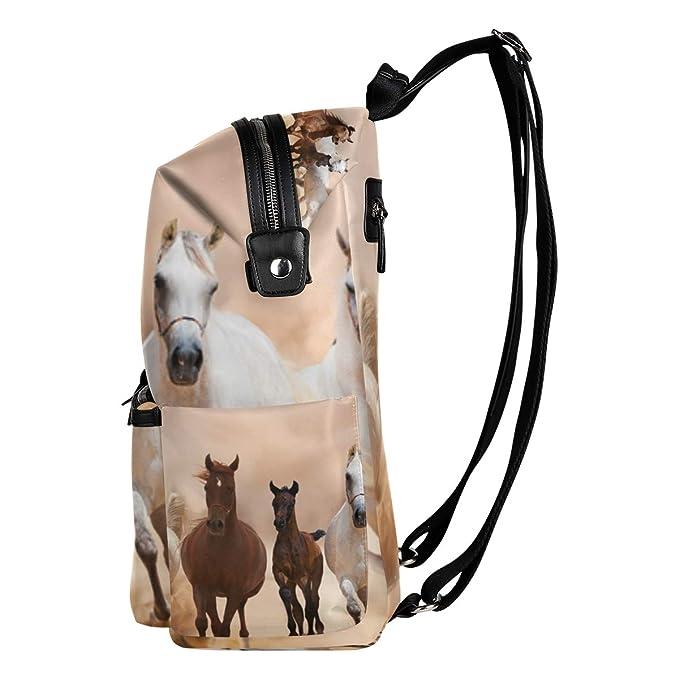 Amazon.com | Dragon Sword Horses Running On The Sand Storm School Backpack College Bags Daypack Bookbags for Teen Boys Girls | Kids Backpacks