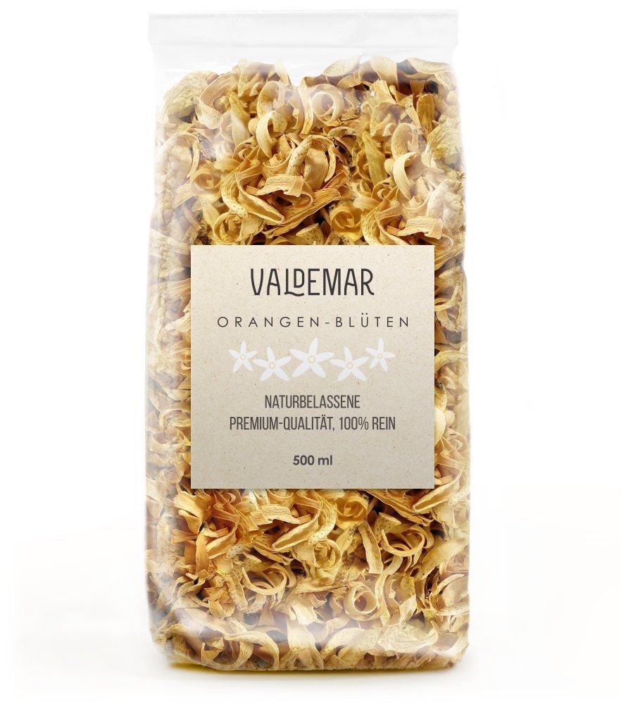 Fiori d'arancio, 500 ml, alta qualità, pure e al 100% prive di additivi, colore e profumo stupendi (etichetta in lingua italiana non garantita) Fiori d' arancio Valdemar Manufaktur