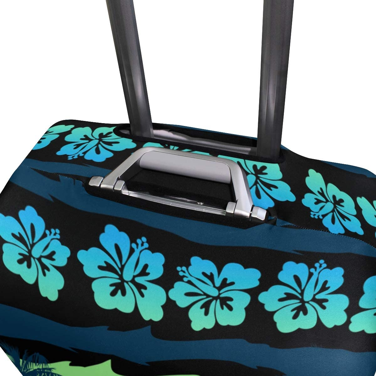 FOLPPLY Tropical Green Sunrise Landscape Luggage Cover Baggage Suitcase Travel Protector Fit for 18-32 Inch