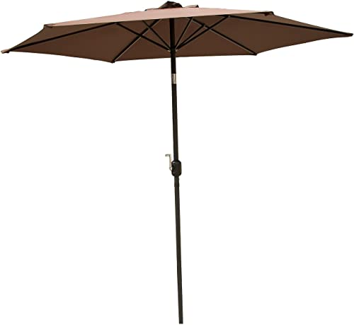 Sliverylake Outdoor Patio Garden Lawn Family Furniture Umbrella 9' Aluminum Market Shade Umbrella Tilt
