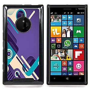 - Purple Teal Abstract Design Shoes Loop/ Duro Snap en el tel????fono celular de la cubierta - Cao - For Nokia Lumia 830
