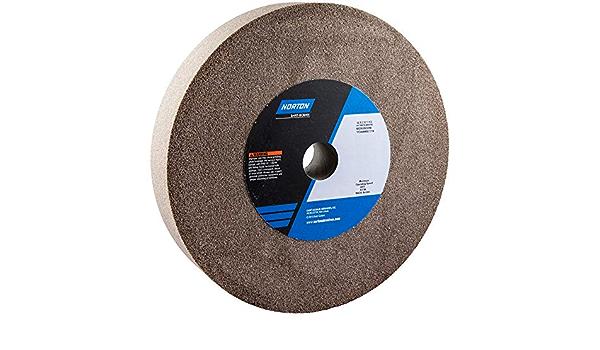 Gemini Brown Aluminum Oxide Bench Wheel //// 66253160350 2//Pk Norton 10 in x 1 in x 1-1//4 in,Fine 100//120
