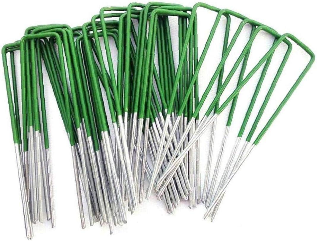 Yililay U-Shaped Lawn Nail U-Nail Garden Lawn Fixing Nail Pegs Netting Tarpaulin Fixing Nail 50pcs