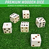 GoSports Giant 3.5 Inch Wooden Playing Dice Set