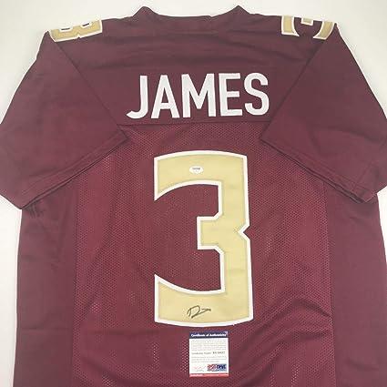 promo code 60e1d 3a864 Autographed/Signed Derwin James Florida State FSU Maroon ...