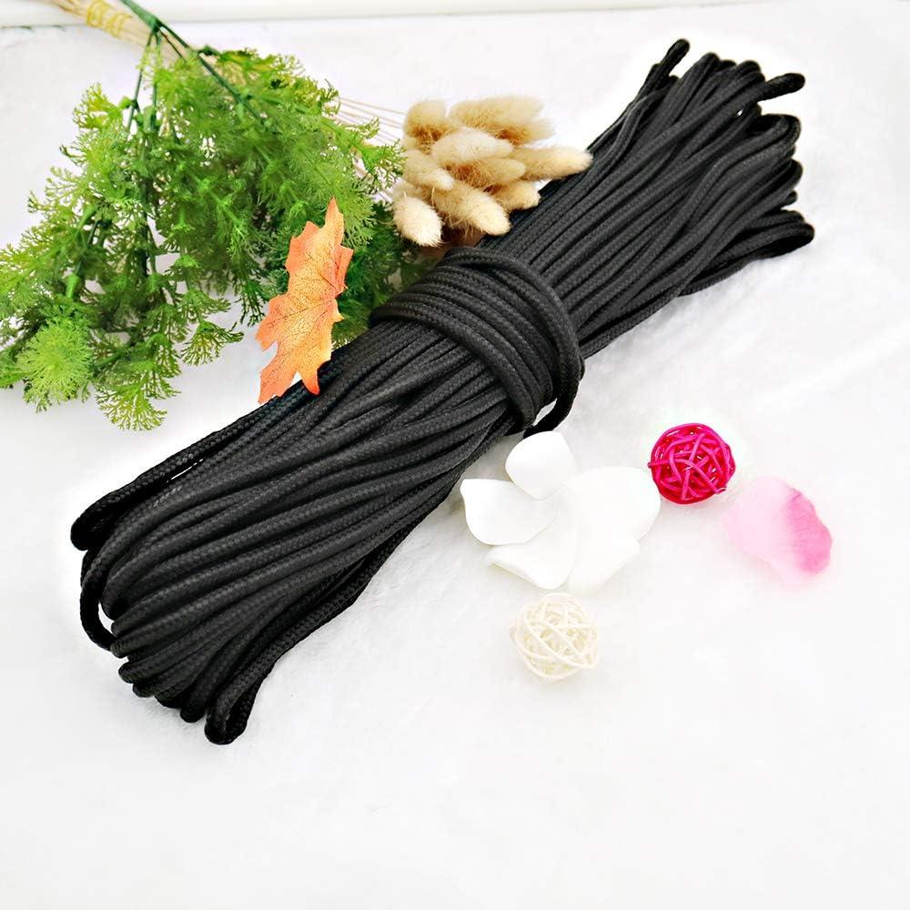 multifuncional cuerda de nailon de 30 m para colgar negro Cuerda de nailon de 6 mm
