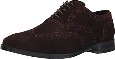 Cole Haan Men's Cambridge Wingtip Oxford Shoe, Chestnut Piped, Size 7.0