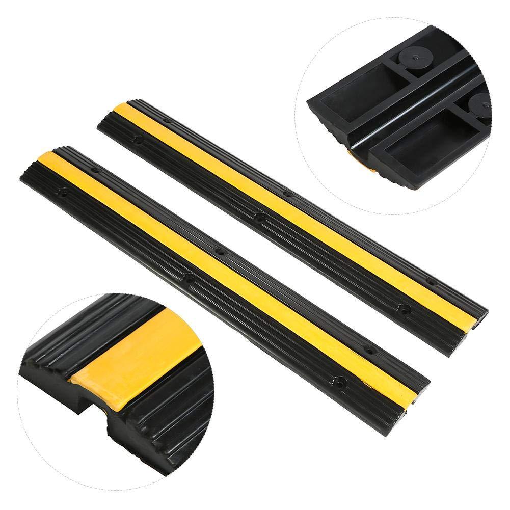 Baustellengeräte & -ausrüstung 1 Kanal Kabelbrücke Protector Gelb Kabelkanal Überfahrschutz Kabelschutz Rampe