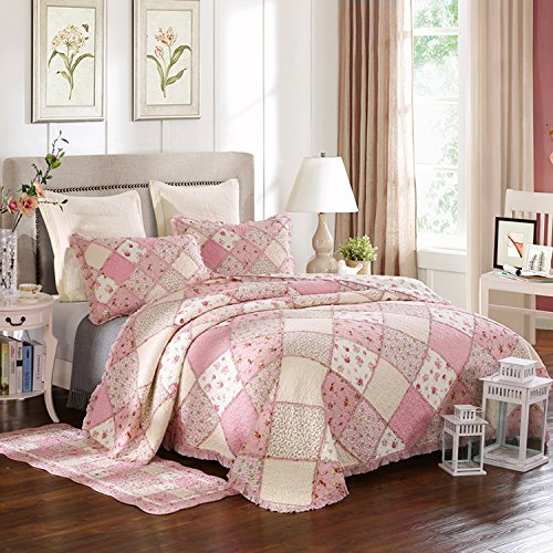 Dodou European pattern Quilt Patchwork Bedding Set the summer time Comforter full / Queen Size Air Conditioning Quilt Blanket 3pcs