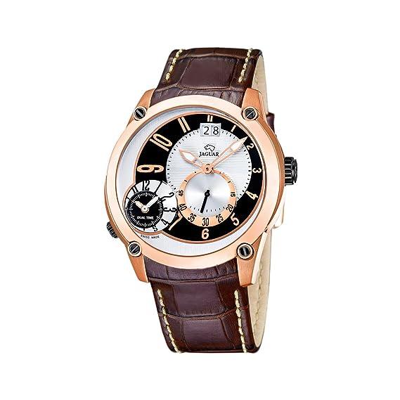 Jaguar 631/1 - Reloj de caballero de cuarzo, correa de piel color marrón: Jaguar: Amazon.es: Relojes