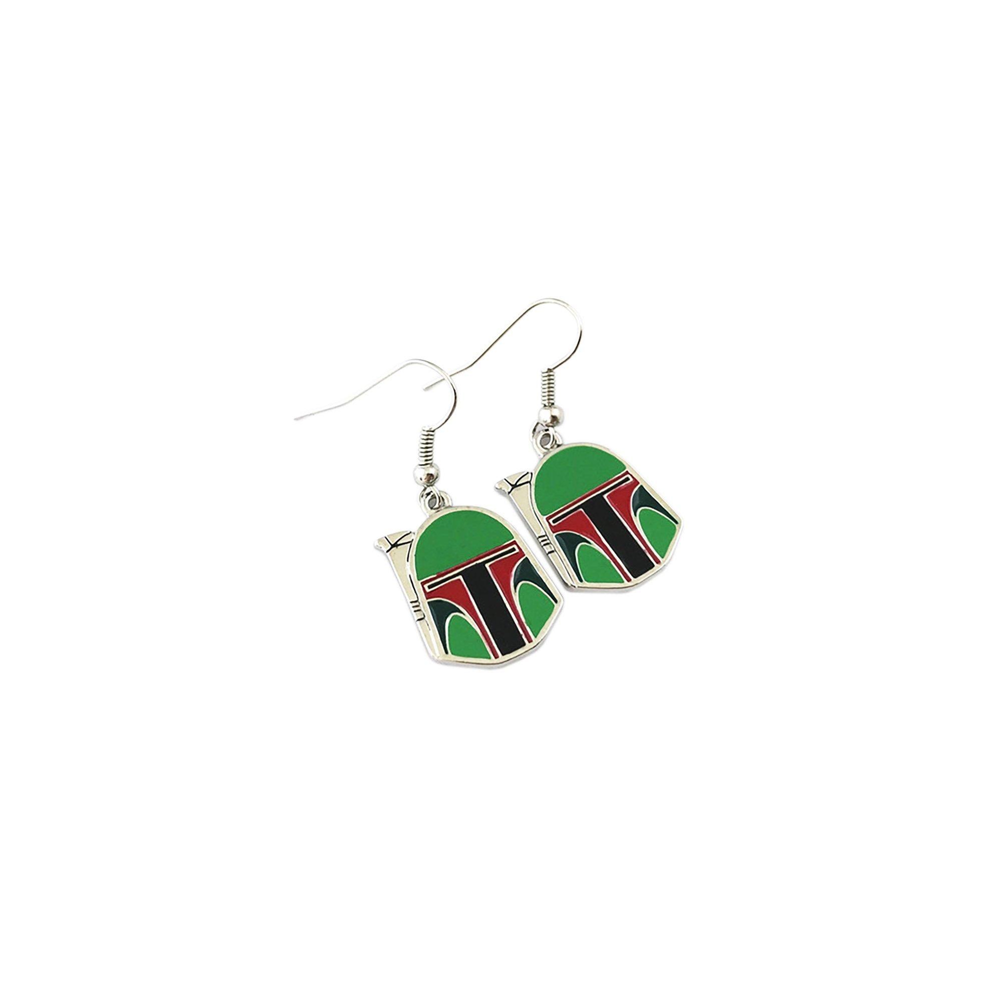 Outlander Star Wars Boba Fett Color Earring Dangles In Gift Box