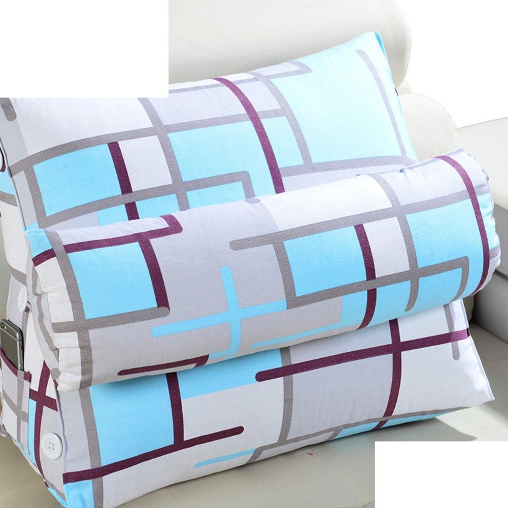 DXG&FX cushion lead pillow bedside back cushion back triangle pillow sofa office pillow floating window waist pillow and a waist waist pillow-A 66x22x50cm(26x9x20inch)