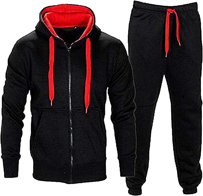 Juicy Trendz - Chándal - para hombre Black-red S: Amazon.es: Ropa ...
