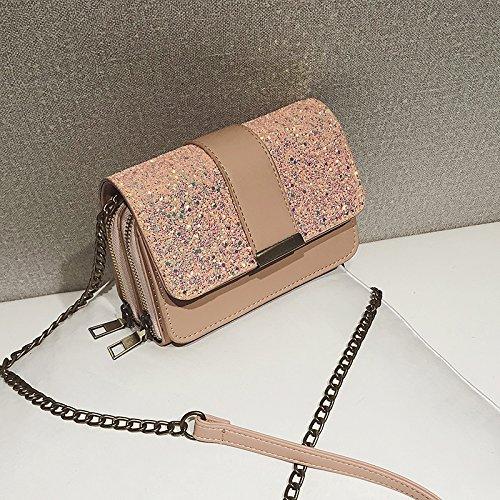 sac Body Bag Rosa Cross couleur Singles de Chain Sac Paillettes Petit KLXEB pochette 5qgfOA8