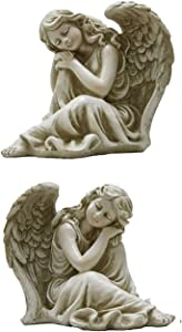 Tremont Floral Garden Angels - Perfect for Indoor Outdoor or Gravesite Decorating