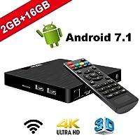TV Box Android 7.1 - VIDEN W2 Smart TV Box Amlogic S905W Quad Core, 2GB RAM & 16GB ROM, 4K*2K UHD H.265, HDMI, USB*2, WiFi Media Player, Android Set-Top Box