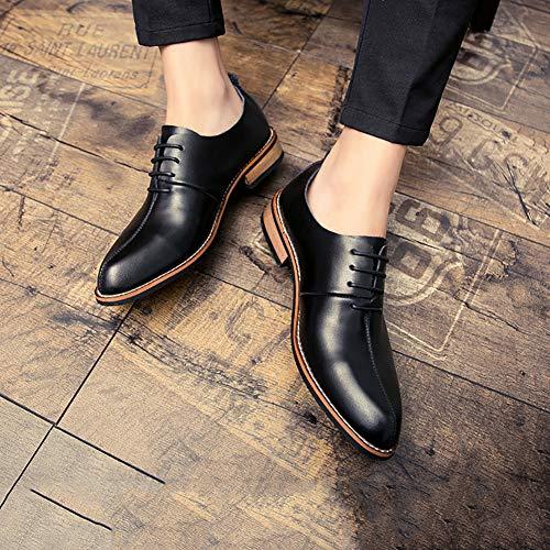 Nere Comfort Oxfords Black Low Casual Business In Eleganti Scarpe Scarpe Autunno Rise Uomo Pelle Scarpe Da 6qHO77