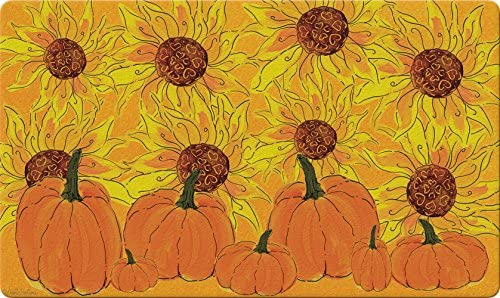 Toland Home Garden 830278 Sunflowers and Pumpkins 18 x 30 Recycled Mat, USA Produced