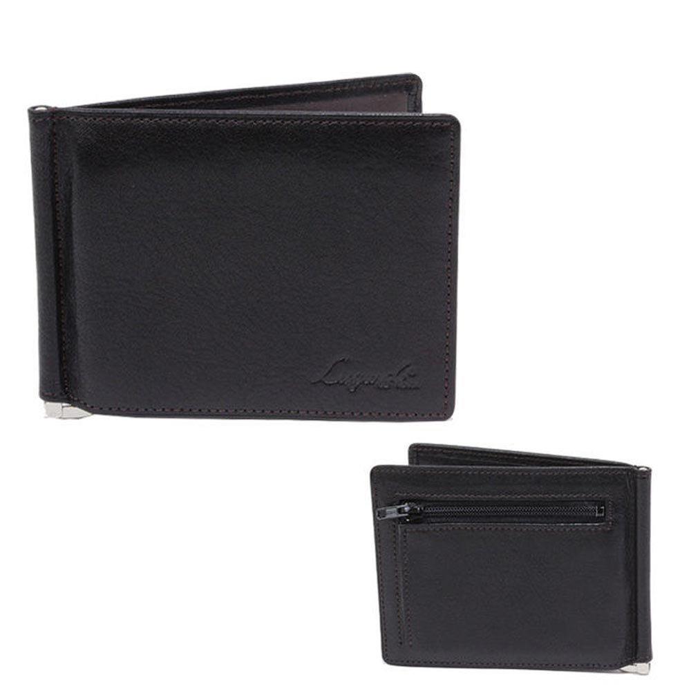青木鞄 Lugard(ラガード) 二つ折り財布 小銭入れあり G-3 No.5209 メンズ 本革 牛革 レザー B00YX860UO ブラック ブラック