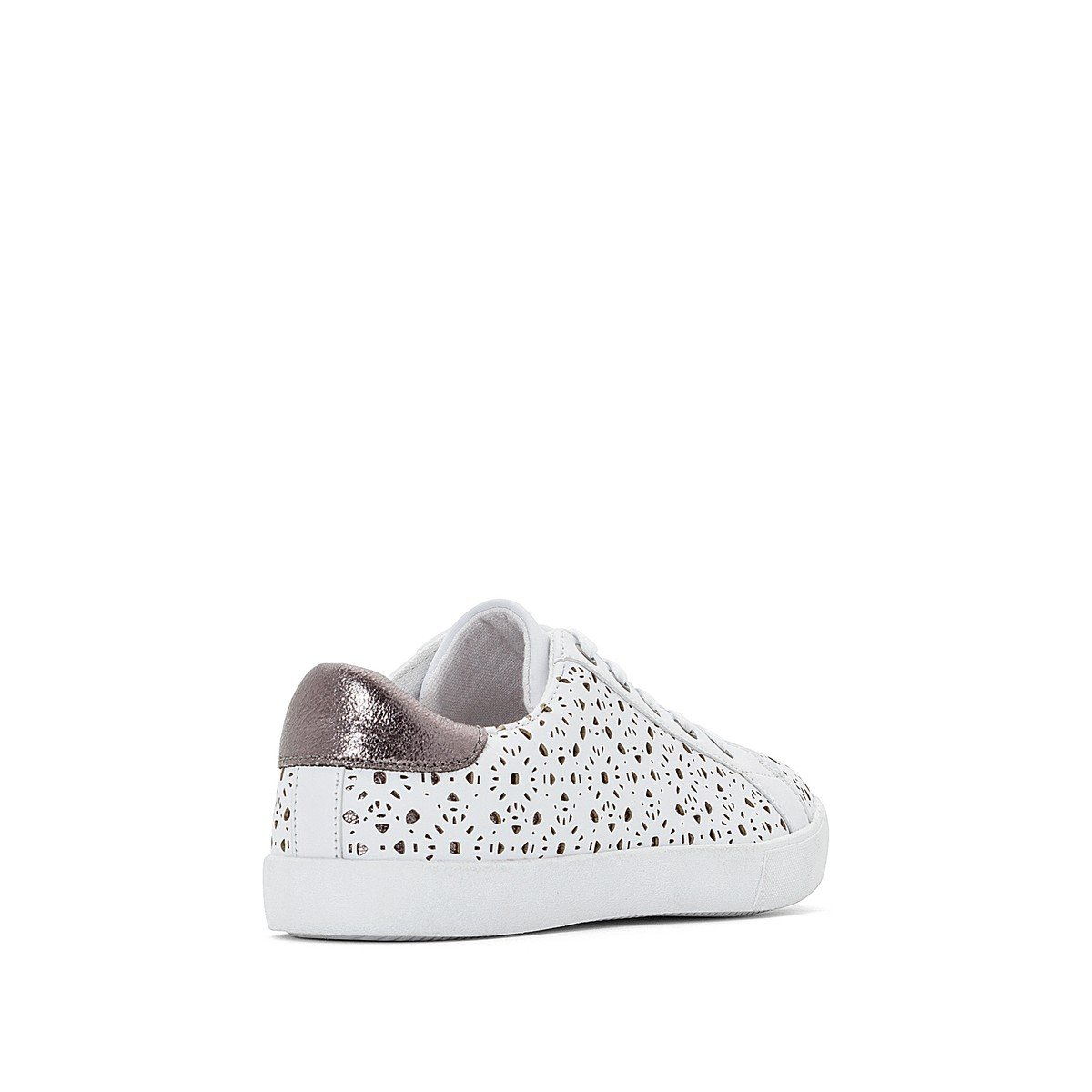La Redoute Womens Lace-Up Low Top Trainers With Lace Detail