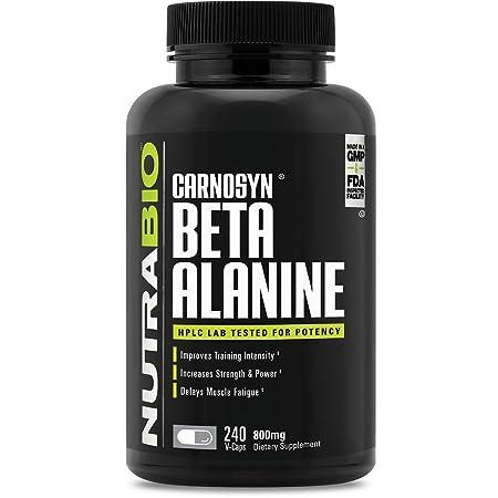 NutraBio Beta Alanine CarnoSyn 240 Capsules, 800mg