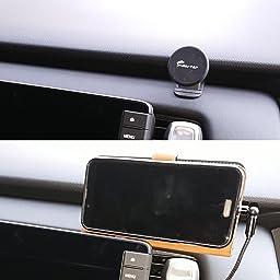 Amazon Sumi Tap スマホホルダー 車 マグネット式 車用粘着式自由設置可能 カーナビホルダー ダッシュボード曲面粘着可能 携帯ホルダー 360度回転カーマウント 磁石車載スマホホルダー Iphone Android Galaxy 多機種対応 円型 ネイビー 携帯電話ホルダー 車 バイク