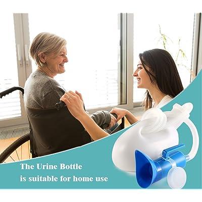 Details about  /2000ML Female Urinal Bottle Portable Pee Bottle for Women Men Hospital Camping