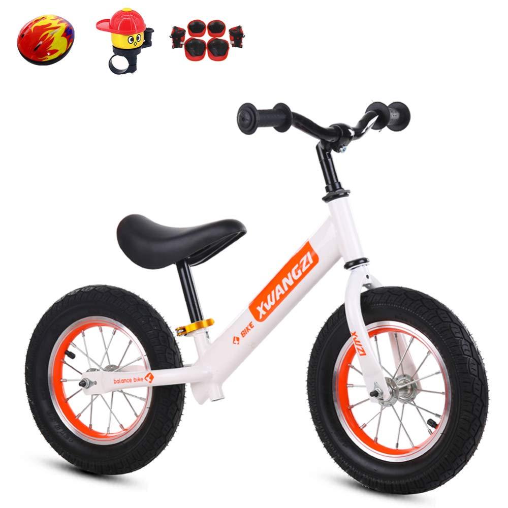 YSH Kinder Laufrad Lernlaufrad Balance Bike | Mit Schutzausrüstung | Luftrad/Eva-Rad | 110 Lbs Kapazität | Alter 2 Bis 6 Jahre,D