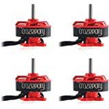 Crazepony 4pcs BR1103 10000KV Brushless Motors for 50 80 100 Multirotor Quadcopter Drone Red