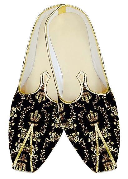 Mens Black Designer Polyester Wedding Shoes MJ14876