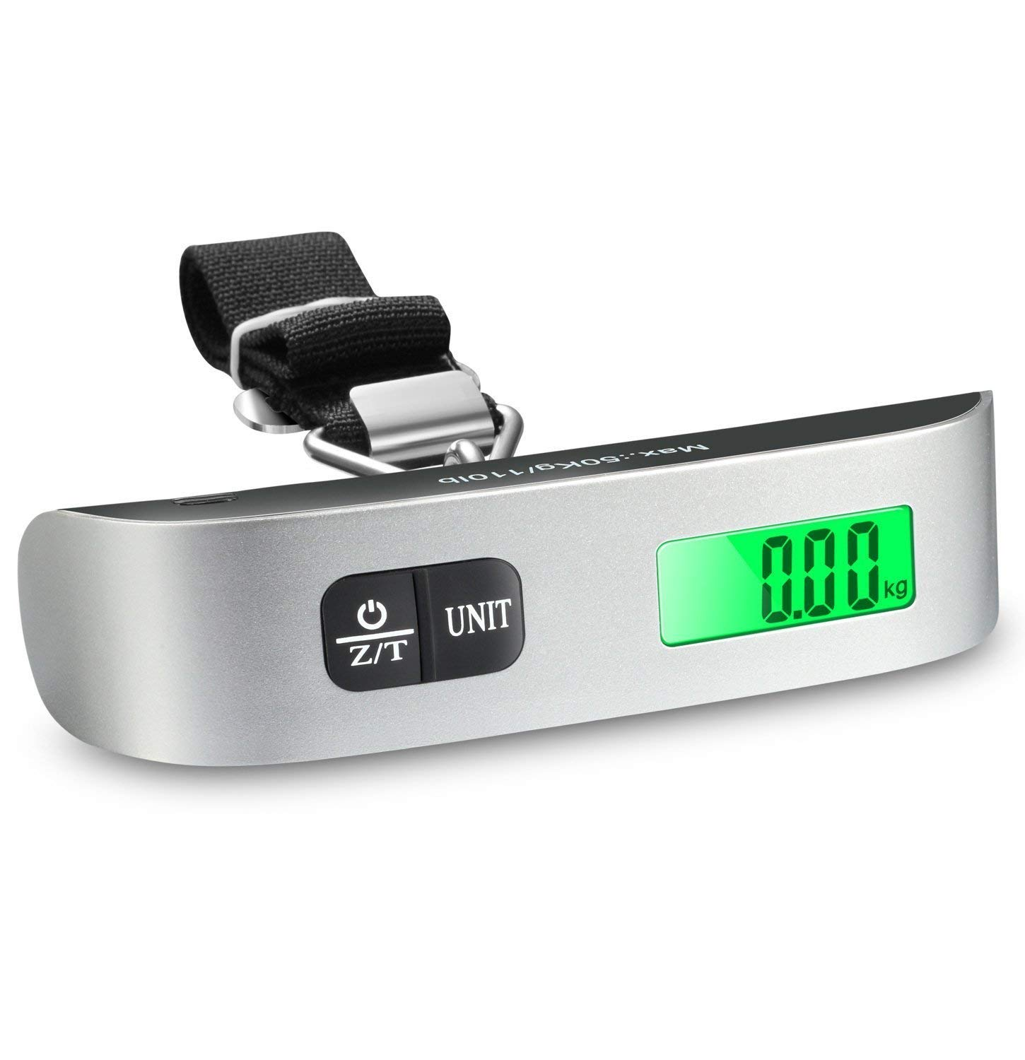 87fad2e265cc Adtala Mini Digital Luggage Scale Hand Held LCD Electronic Scale Electronic  Hanging Scale Thermometer 50kg/110lb Capacity Weighing Device