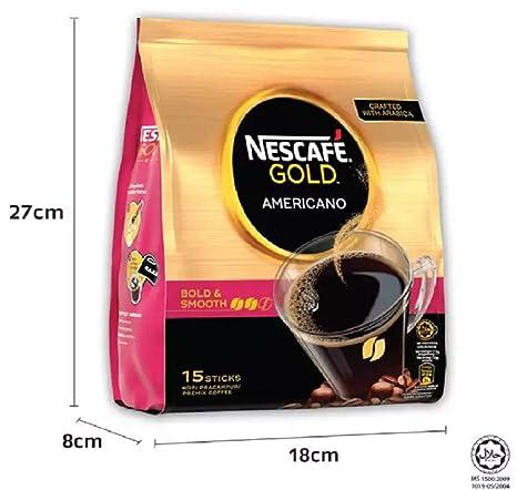 Nescafe Gold Americano Premix - Cafetera de émbolo (15 ...
