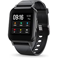 """SoundPEATS Smart Watch Fitness Tracker with All Day Heart Rate Monitor Sleep Quality Tracker IP68 Waterproof 1.4"""" Large…"""