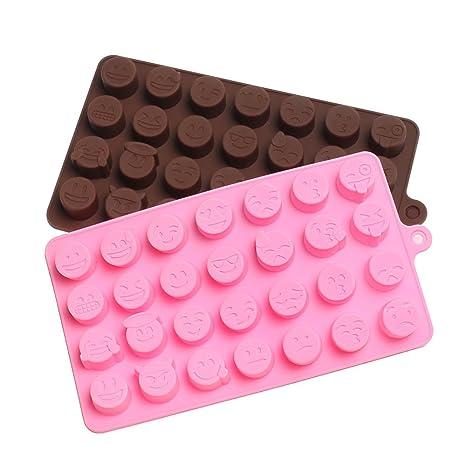 Emoji Molde de silicona para hacer dulces, moldes de silicona para hornear cubitos de hielo