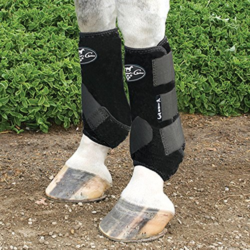 (Professionals Choice Equine Neoprene Sports Medicine Leg Boot, Pair (Medium, Black))