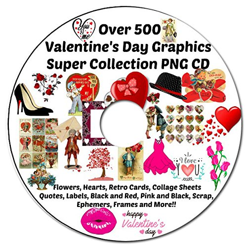 Cdv Card (Over 500 Valentine's Day Images Collection Transparent PNG Graphic Images and JPG and PDF Collage Sheets On CD Printable or Digital Scrapbooking, Altered Art, Decoupage, Card Making and More!)
