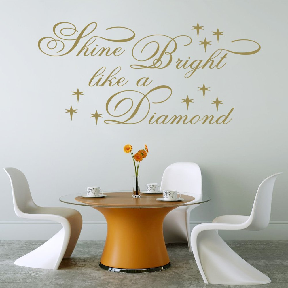 Shine Bright Like A Diamond (Rihanna) Lyric Wall Decal Sticker Quote Bedroom  Lounge (Small): Amazon.co.uk: Kitchen U0026 Home Part 77
