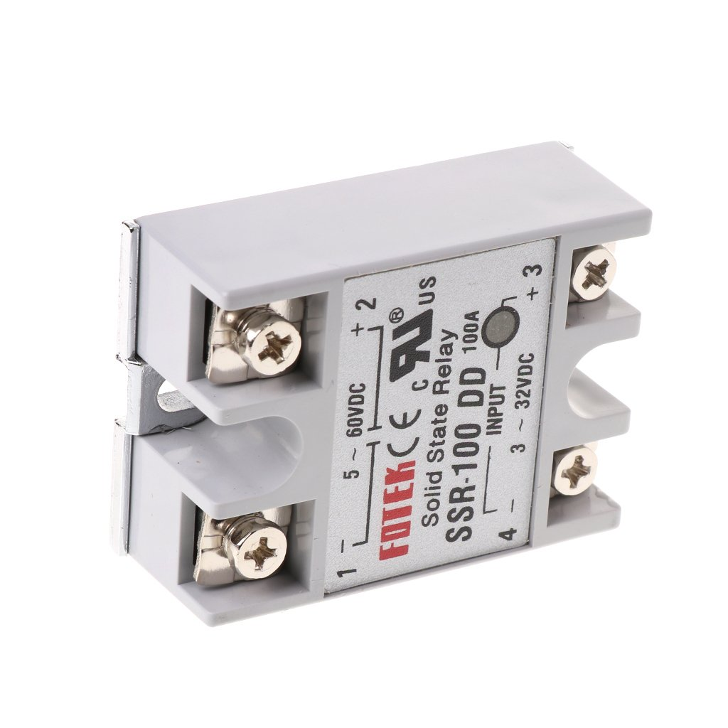 PoityA SSR-100 DD DC Solid State Relay Module 100A 3-32V DC Input 5-60V DC Output Relay