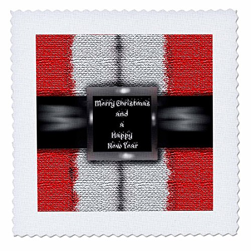 hotography Holiday Designs - Santa Claus Iconic red suit bearing Merry Christmas greeting - 16x16 inch quilt square (qs_265991_6) (16 Inch New Bearing)