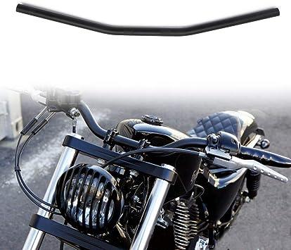 1 Motorcycle Handlebar Chrome Iron Drag Bars 28 Wide Handlebars For Harley Davidson Sportster HD Custom Chopper Softail Tour Glide Road King Electra