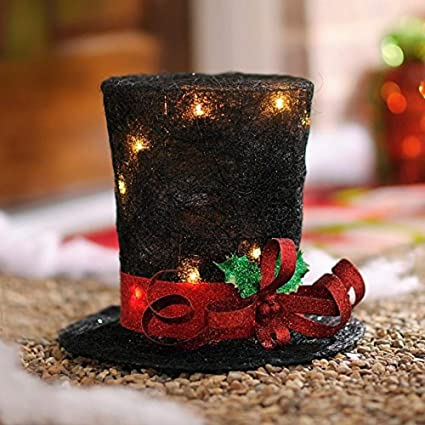 Christmas Top Hat.Hm Unique Christmas Tree Topper Lighted Top Hat Snowman Reindeer Elf Head Top Hat New Lighted Top Hat