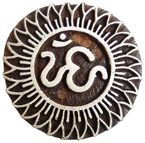 Sacred Aum Om Wooden Printing Block/Stamp Textile Fabric Pri