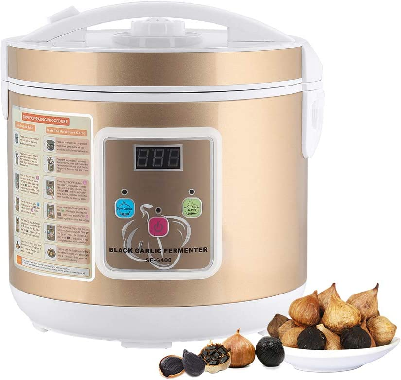MOOACE Black Garlic Fermenter, Full Automatic Garlics Maker Intelligent Garlic Cooker, 5L, Gold