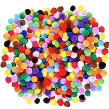 JBENG 1200 Pcs 1cm Assorted Pom Poms for DIY Creative Decorations,Craft Pompoms