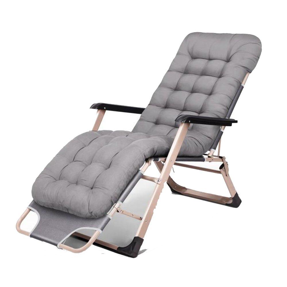 XXHDYR Klappbett Mittagessen Bett Siesta Bett Büro Liege Haus Kinderbett Klappstuhl (Farbe : grau)