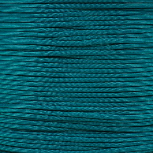 PARACORD PLANET 550 Cord Type III 7 Strand Paracord 50 Foot Hank - Teal