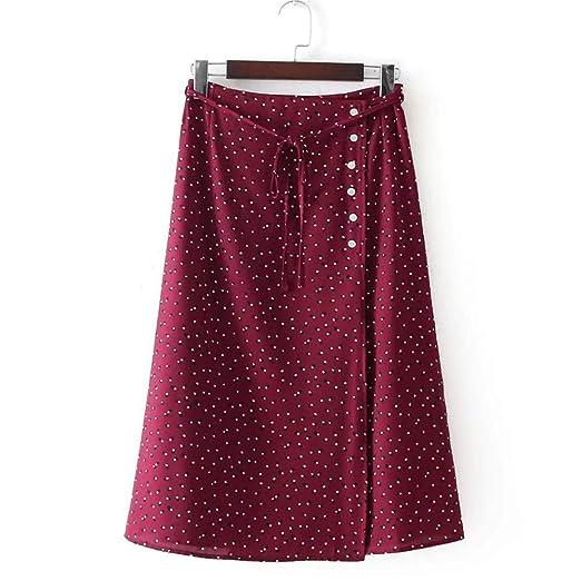 Falda larga de las mujeres Falda de punto para mujer Impreso Draw ...