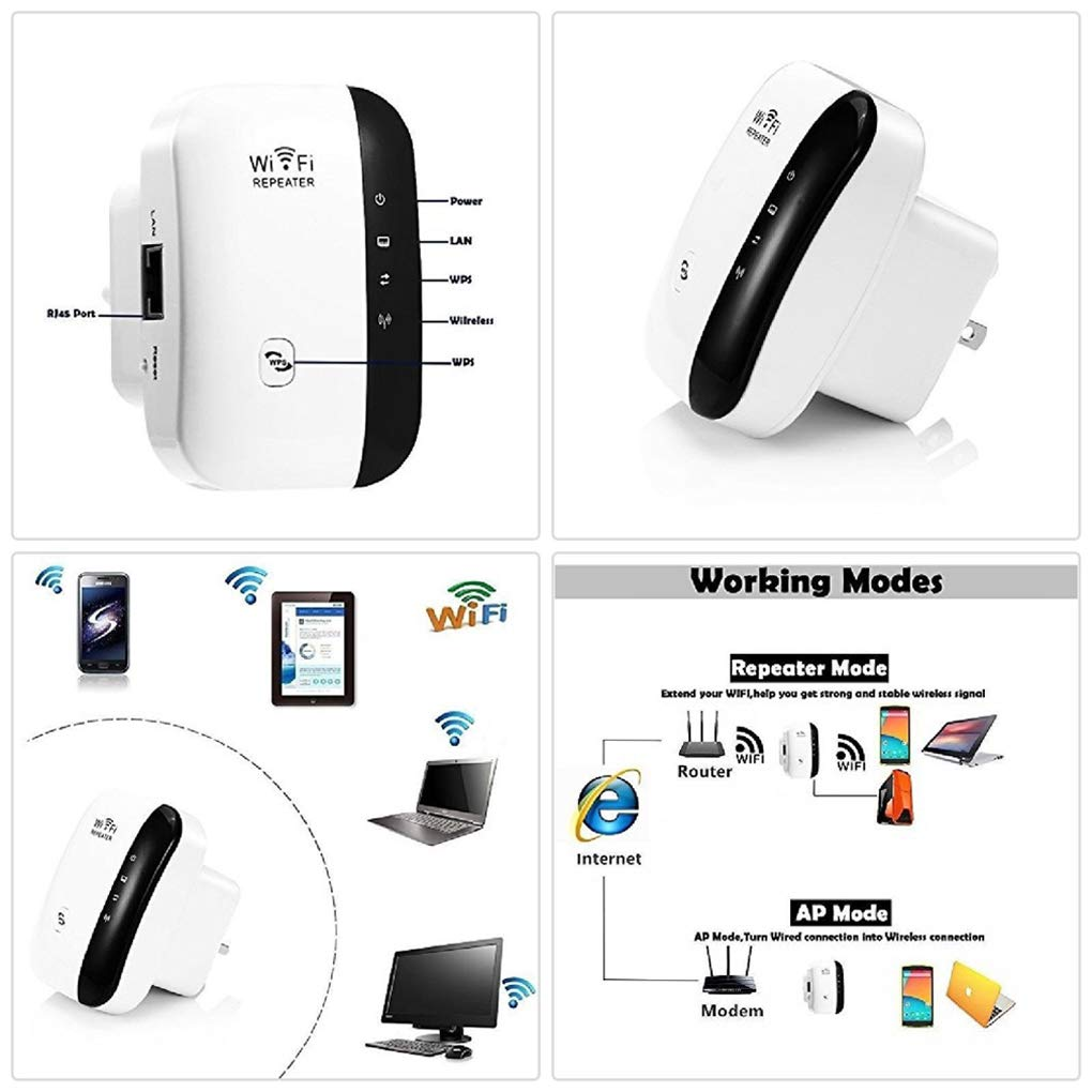 Zooarts New WiFi Range Extender Super Booster 300Mbps Superboost Boost Speed Wireless